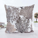 45x45cm Silver Blue Tree Throw Pillow Cover Sofa Chair Bed Wood Forest Decorative Cushion Cover Wool Pillow Sham Home Decor
