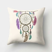 1Pcs Feather Dream Catcher Pattern Polyester Throw Pillow Cushion Cover Car Home Decoration Sofa Bed Decorative Pillowcase 40523