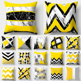 Cojines Decorativos Para Sofa Cushion Cover Yellow Pillow Geometric Marble Polyester pillowcase Home Decoration Decor 40548