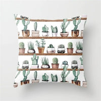 Cactus Succulent Plants Printed Cushion Cover Polyester Home Decor Bedroom Decorative Car Seat Throw Pillow Cover For Sofa 40829