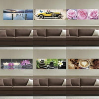 3X Self-adhesive Wall Sticker Panels TV Background Living Room Decal Home Decor