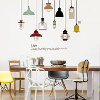 DIY Pendant Lamp Wall Sticker Vinyl Love Wall Decal Home Living Room Sofa Decor