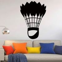 Classic Badminton Sports Art Wall Sticker for Home Decor Living Room Decoration