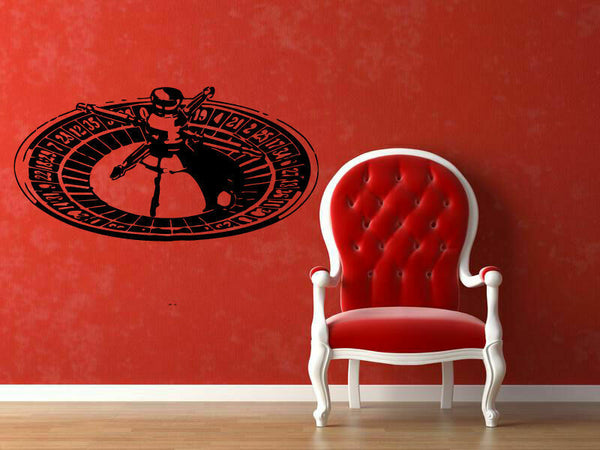 Wall Vinyl Sticker Decal Decor Room Design Casino Roulette Game Money bo2101