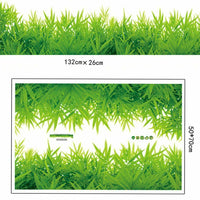 1pcs 3D PVC Skirting Kids Living Room Fresh Green Grass Wall Stickers Home Decor