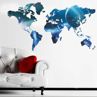 Galaxy World Map Removable PVC Vinyl Art Wall Sticker Decal Mural Room Decor DIY