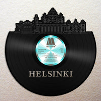 Helsinki Vinyl Wall Art Cityscape Souvenir Anniversary Home Room Decoration