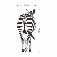 Wall Sticker Home Decor Zebra Animals Decal Living Room Bedroom Art House Decors