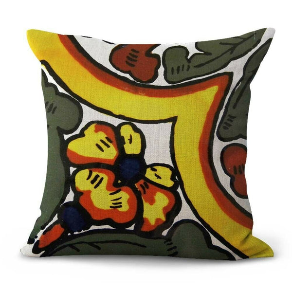 -set of 2 Mexico Spain majolica talavera cushion cover outdoor throw