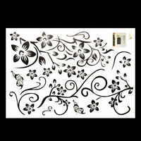Removable Butterfly Flower DIY Vinyl Decal Art Mural Home Decor Wall Stickers-wu