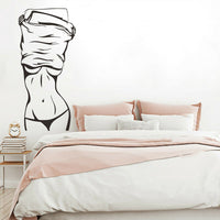 Sexy Fashion Girl Women Wall Sticker Decal Salon Waterproof Living Room Decor