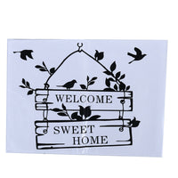 Pastoral Style Welcome English Letter Wall Sticker for Living Room Decoration