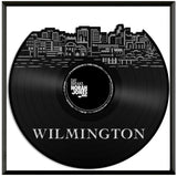 Wilmington DE Vinyl Wall Art Cityscape Exclusive Gift Room Decoration Framed