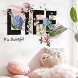 Life as Flower Wall Sticker Home/Store Decor DIY Removable