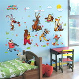 Animals Music Party Home Room Decor Removable Wall Stickers Decal Decoration