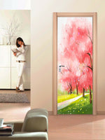 3D Self-adhesive Oil Painting Living Room Door Murals Wall Sticker Home Decor