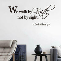 Modern Faith Letters PVC Removable Wall Stickers Living Room Bedroom Decoration