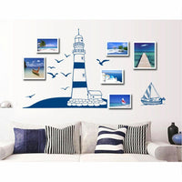 Room Creative Wall Lighthouse Decal Ocean Wall Sticker Decor Removable Home