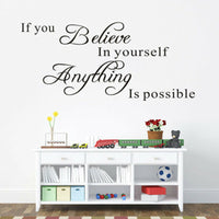 if you believe in yourself inspirational quotes wall decal decorative sticker BH