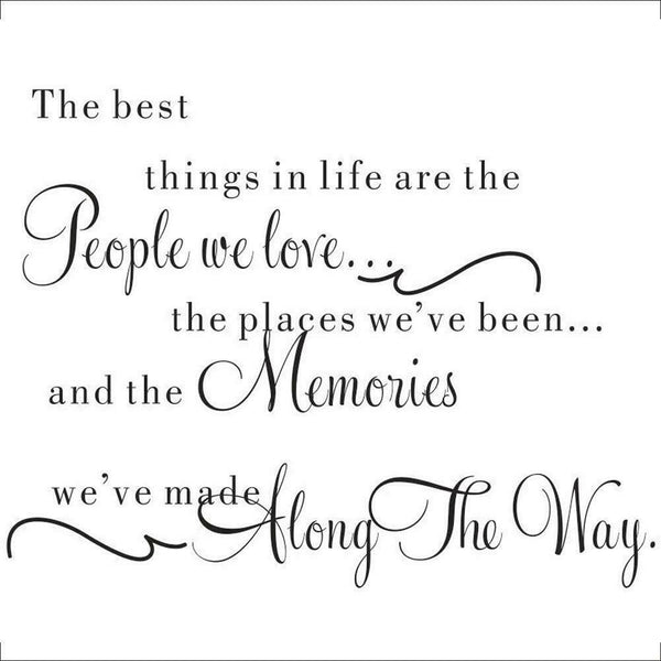 """The best things"" Self Adhesive Word Wall Sticker Living Room Home Decoration"