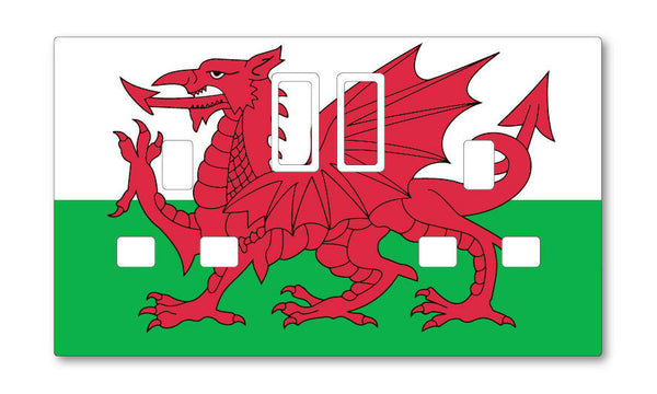 WELSH WALES UK PLUG SOCKET STICKERS KIDS BEDROOM LIVING ROOM DECOR NURSERY