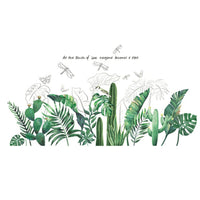 Tropical Leaves Wall Sticker DIY Plant Wall Decals for Living Room Bedroom Decor