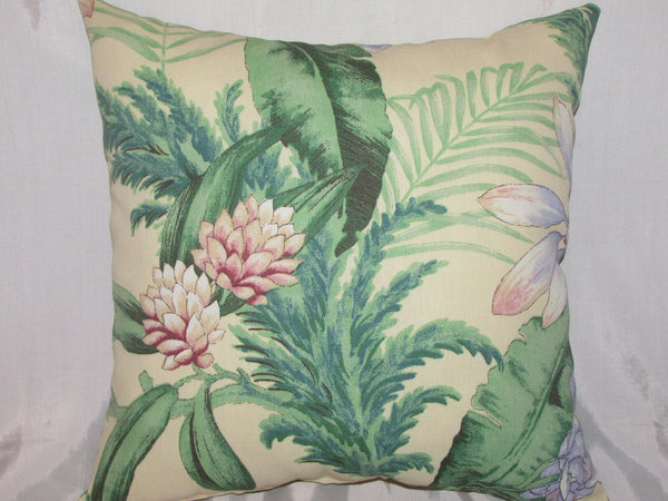 "1 DECORATIVE THROW PILLOW CUSHION COVER 17"" FLORAL INDOOR OUTDOOR"