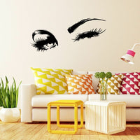 Wall Decal Charming Eyes Lashes Wall Sticker For Bedroom Living Room Home Decor