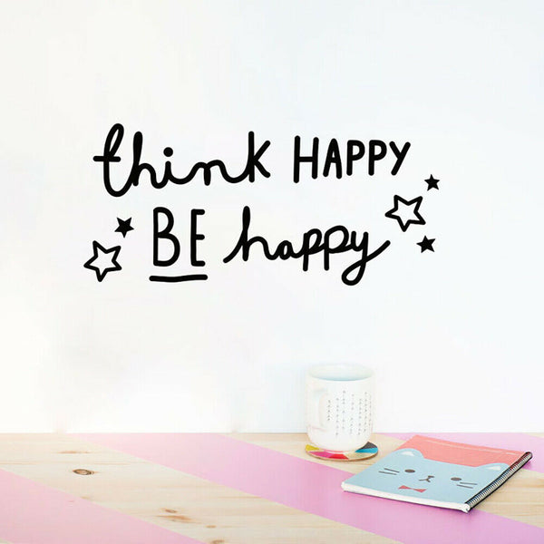 Thanks Be Happy Letters PVC Wall Sticker Home Living Room Bedroom Decor Newly
