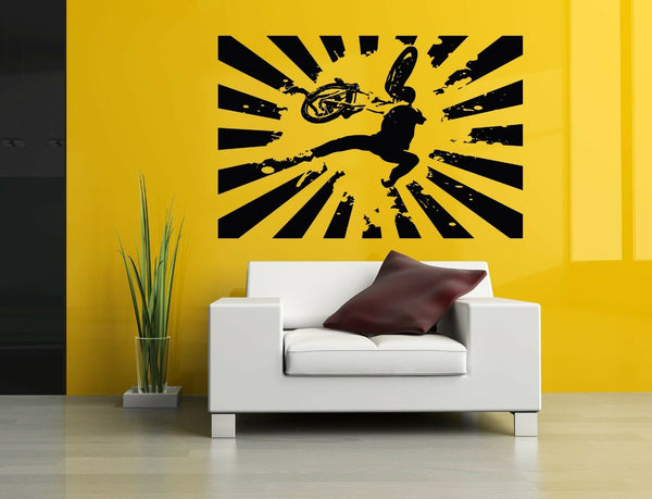 Wall Decor Art Vinyl Sticker Mural Decal Bmx Bike Parts Sport Bicycle Set SA507