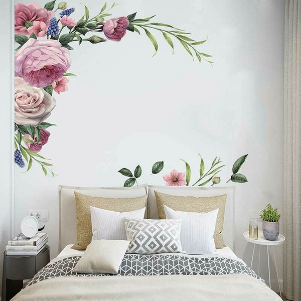 1*Set Of Wall Stickers Decal Decors Removable Flowers Home Bedroom Living Room