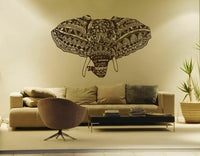 ik266 Wall Decal Sticker Decor Indian elephant floral ornament animal India