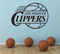 Los Angeles Clippers Logo Wall Decal Sport Sticker Decor Black Vinyl NBA CG274