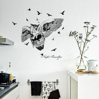 Wall Sticker Home Decor Owl Bird Silhouette Art Decal Living Room Bedroom Decors