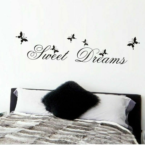 Sweet Dreams Wall Sticker Living Room Bedroom Decoration Wall Decal