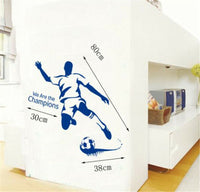 Football Player Home Room Decor Removable Wall Stickers Decal Decorations