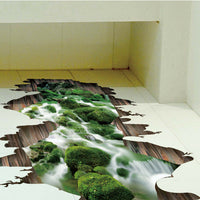 Adhesive Floor Bedroom DIY Bridge Pattern Home Decor Removable PVC Wall Sticker