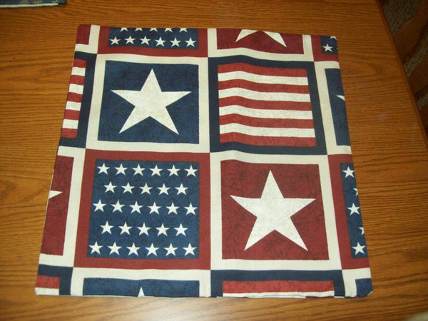 (2) 16x16 PATRIOTIC DESIGNED INDOOD/OUTDOOR PILLOW COVERS