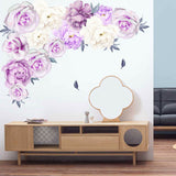 Peony Flower Home Wall Sticker Living Room Office Decal Mural DIY Decor New