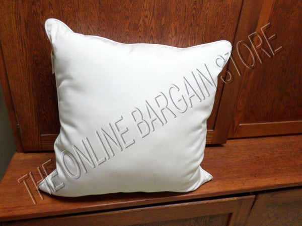 1 Frontgate Outdoor All Weather Yard Decor Chair Sofa Throw Pillow White 20""