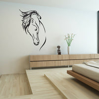 Vinyl RemovableWall Decal Head Of Horse Sticker Murals Living Room Decor Ni JQ