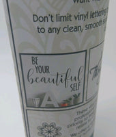 """Be Your Beeautiful Self"" My Thoughtful Wall Decal Decoration Black 16.5 x 24"