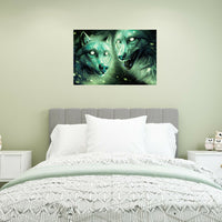 Halloween Wolf Luminous Background Wall Sticker Livingroom Home Decoration