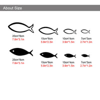 3D Little Fish Art Wall Stickers Acrylic Living room Deco 8 pcs Home Decoration