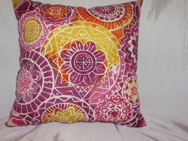 "1 DECORATIVE THROW PILLOW CUSHION COVER 17+17"" INDOOR/OUTDOOR"