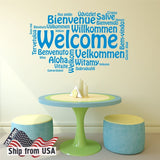 Welcome Quote Home Wall Decor Art Vinyl Sticker Mural Decal Removable from USA