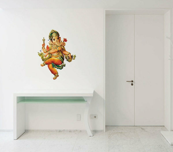 Lord Ganesha PVC Wall Sticker Home Decor Removable Art Decal Mural Living Room