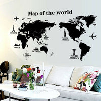 Map of the World Removable PVC Decal Wall Sticker Home Decor Art Hot