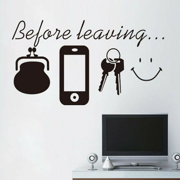 Before Leaving Wall Decal Home Room Decor Art Quote Stickers Removable Mural LD