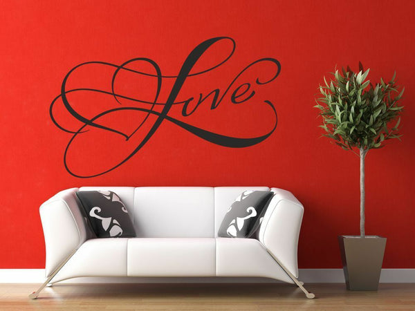 Love, Wall Art Quote, Wall Decal, Wall Sticker Bedroom Decor B43